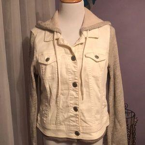 AE jean jacket with hoodie